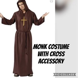 Monk Costume with cross adult one size